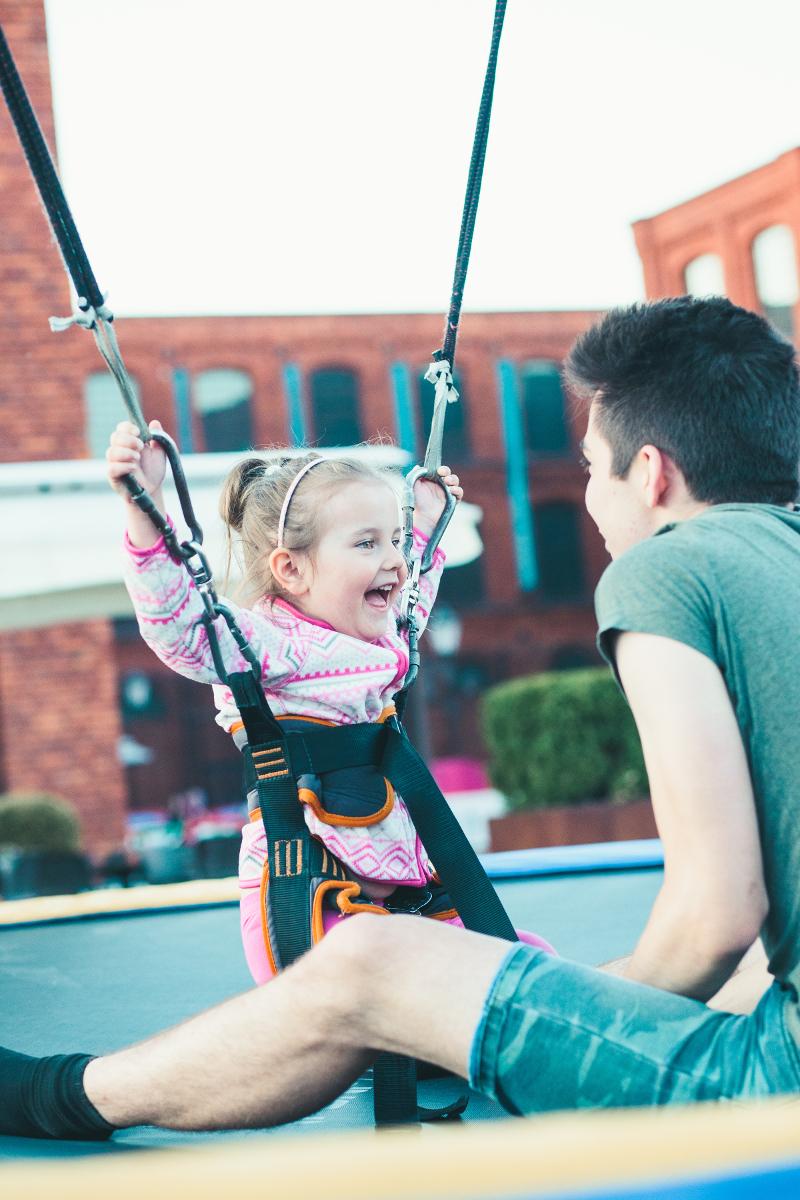 Trampolina dla małych dzieci