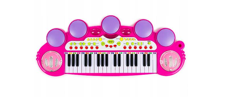 pianinko dla dzieci z mikrofonem